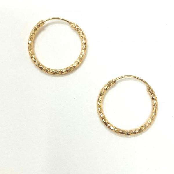 Σκουλαρίκια Gold Glowing Hoops
