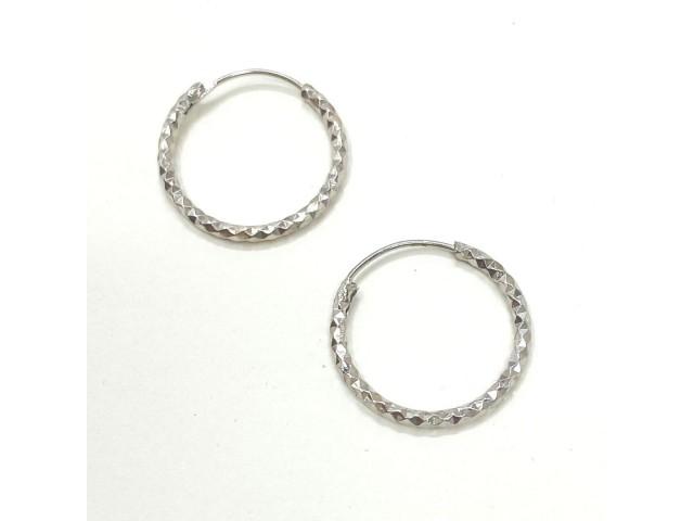 Σκουλαρίκια Silver Glowing Hoops