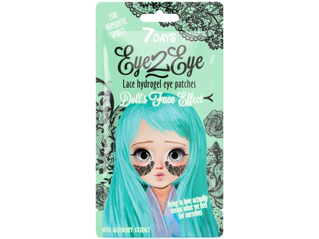 7DAYS EYE-2-EYE Lace Hydrogel Eye Patch Blueberry 6g