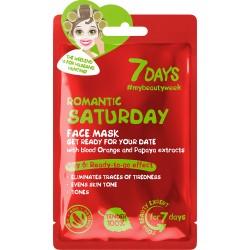 7DAYS Romantic Saturday Sheet Mask 28g