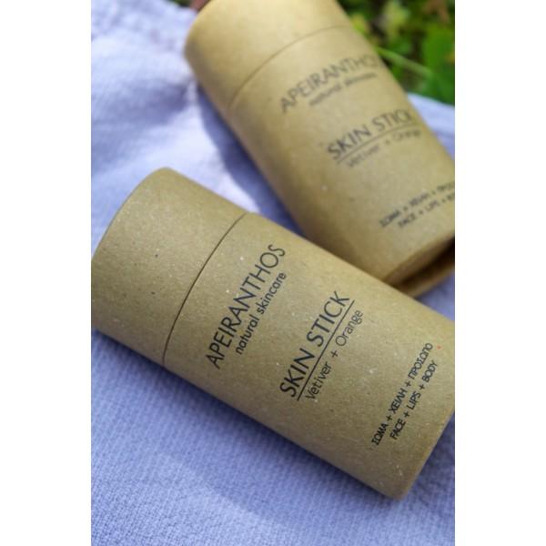 Apeiranthos Skin stick | Vetiver + Orange, 30gr