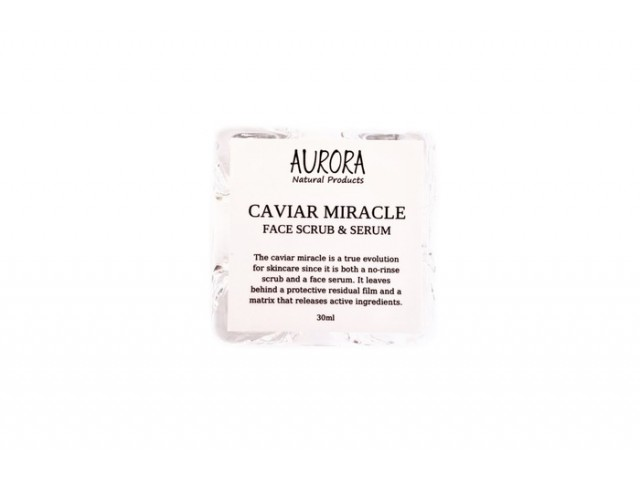 Aurora CAVIAR MIRACLE | CAVIAR FACE SCRUB & SERUM, 30ML