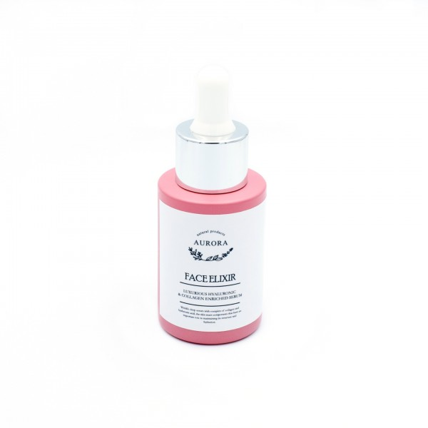 Aurora FACE ELIXIR, WITH 12% HYALURONIC ACID AND COLLAGEN, 30ML