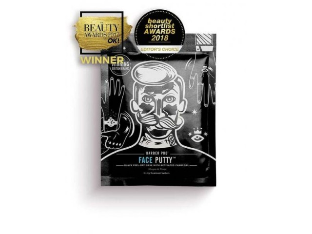 BARBER PRO FACE PUTTY (black peel-off mask with actvated charcoal)