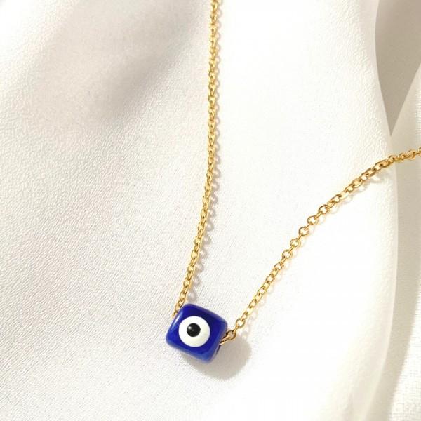 Κολιέ Blue Eye, stainless steel