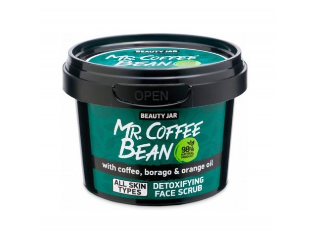 Beauty Jar Mr COFFEE BEAN Scrub Αποτοξίνωσης