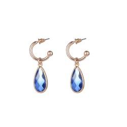 Σκουλαρίκια Blue gem tear drop