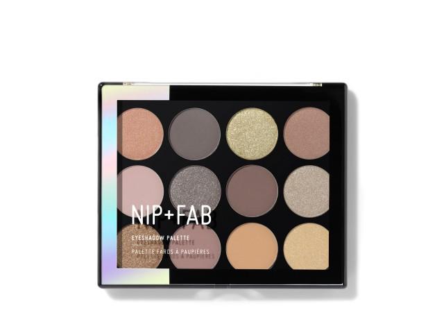 NIP + FAB Eyeshadow palette Gentle Glam, 12gr