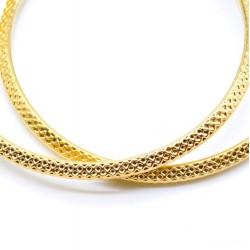 Σκουλαρίκια Stainless steel κρίκοι snake 35mm Gold