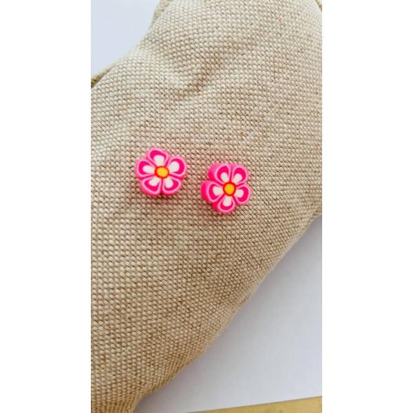 Σκουλαρίκια Λουλούδι Ροζ