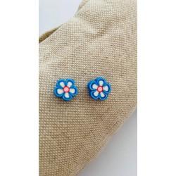 Σκουλαρίκια Λουλούδι Μπλε