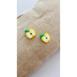 Σκουλαρίκια Μήλο - Κίτρινο