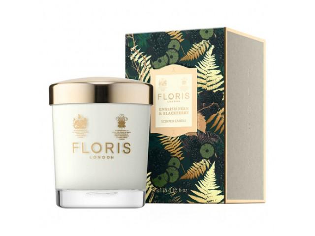 Floris London English Fern & Blackberry 175g Scented Candle, αρωματικό κερί