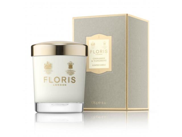 Floris London Cinnamon & Tangerine 175g Scented Candle, αρωματικό κερί
