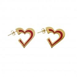 Σκουλαρίκια σε σχήμα καρδιάς