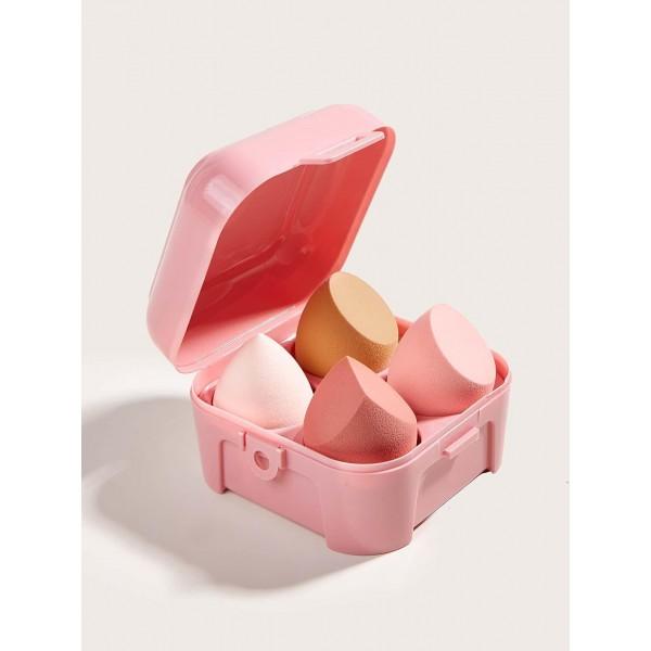 BEAUTY TOOLS   Pink Beauty Blender Case 4pcs